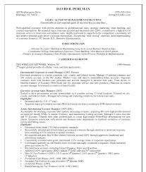 account manager resume sample resume for your job application