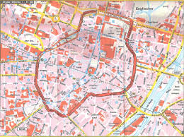 Munich Germany Map by Large Detailed Tourist Map Of Central Part Of Munich City