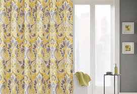 curtains fantastic charm yellow and blue floral curtains