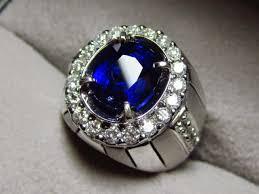 model cincin blue safir batu akik nilam selon ceylon blue sapphire emban batu akik