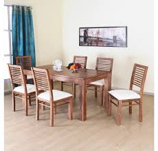 buy dortmund 6 seater dining set home by nilkamal new natural