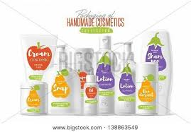 handmade cosmetic brand vector packaging template body care