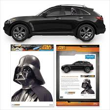 cartoon sports car side view amazon com star wars darth vader passenger series perforated pvc