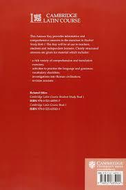 cambridge latin course 1 student study book answer key amazon co