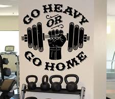 home gym wall decor first class home gym wall decor with d cor stickers art mirror ebay