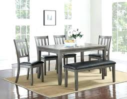 gray dining table with bench grey wood table and chairs gray dining bench 6 collection grey