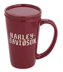 harley davidson ceramic tea infuser u0026 lid mug coffee mug red white