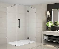 36 Shower Doors Aston Avalux 48 X 36 X 72 Completely Frameless Hinged Shower