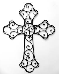 Christian Art Designs Beautifully Detailed Decorative Metal Cross By Rillabee On Etsy