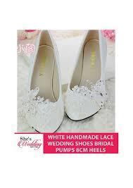 wedding shoes malaysia buy lace wedding shoes malaysia white handmade lace 8cm heels