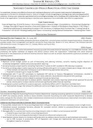 Sample Financial Controller Resume by Sample Resume For Corporate Accountant Templates