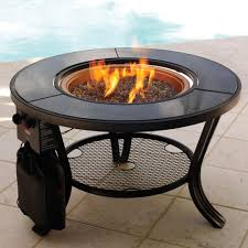 cocktail table fire pit the propane firepit cocktail table hammacher schlemmer