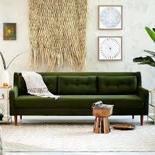 mid century sofa midcentury sofas engage upholstered atomic red