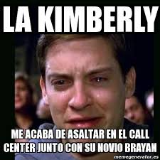 Kimberly Meme - meme crying peter parker la kimberly me acaba de asaltar en el