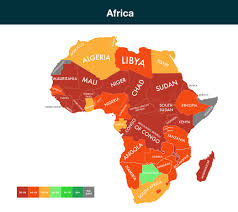 Africa Map Of Countries by Which Countries Are Exposed To Climate Change
