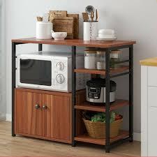 kitchen pantry storage cabinet microwave oven stand with storage kitchen microwave oven stand rack baker shelf storage cart cabinet workstation