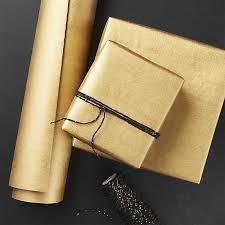 kraft gold gift wrap cb2