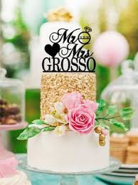 wedding cake topper mr and mrs cake topper with surname heart
