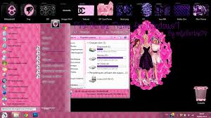 theme bureau windows 7 gratuit pink theme for windows7 by mllebarbie03 on deviantart