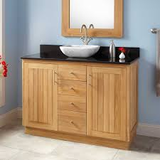bathroom natural wood bathroom vanity cabinet with storage drawer