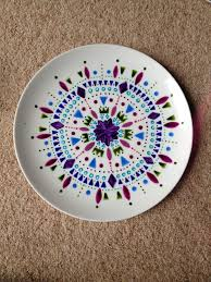 painted platter ceramic painting ceramics ideas plate colors and patterns