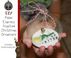 diy polar express ornament enchanted homeschooling