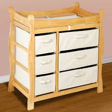 Badger Basket Baby Changing Table With Six Baskets Badger Basket Sleigh Style Baby Changing Table With Six Baskets In