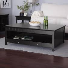 Large Storage Coffee Table Coffee Table Black Coffee Table Contemporary Glass Tables Round