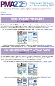 national sample survey reports newsletters pma2020