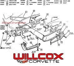 1978 corvette front bumper 1973 corvette bumper braces and cover illustration willcox