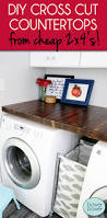 Inexpensive Cabinets For Laundry Room by Diy Cross Cut Countertops Wood Countertops Countertops And Wood