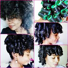 roller set relaxed hair transitioning hair week low manipulation and protective styling