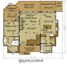 28 lake house floor plans view small with rear mode hahnow