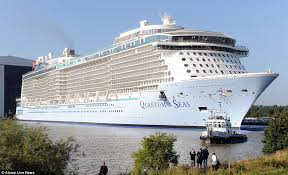 largest cruise ship in the world quantum of the seas cruise ship has jewel shaped observation pod