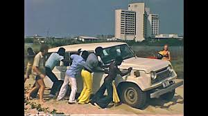 land cruiser vintage lagos southern nigeria africa 1976 old historical footage of