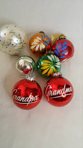 antique 1930 40s glass tree bulb ornaments set of seven
