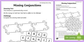 coordinating conjunctions differentiated activity sheet pack