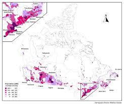 canadian map population distribution annual demographic estimates subprovincial areas map 4 1