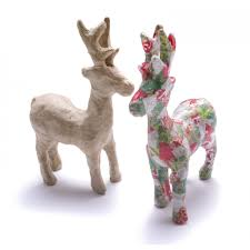 decopatch paper mache reindeer decopatch and paper mache from