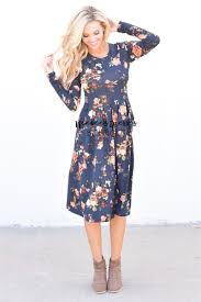 black mustard floral dress best place to buy modest dress online