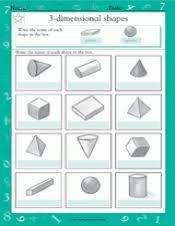 naming 3 dimensional shapes iii math practice worksheet grade 2