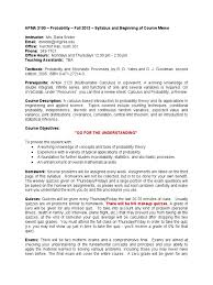 apma 3100 sylabus fall 2013 snider probability theory