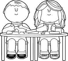 kids playing with clay coloring page wecoloringpage