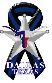 dallas cowboy ribbon blue line dallas memorial reflective decal