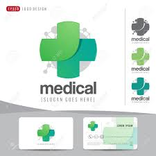 logo design medical healthcare or hospital and business card