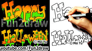 how to draw graffiti letters happy halloween fun things to