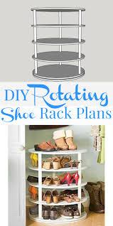 shoe organizer remodelaholic rotating shoe rack building plan also revolving shoe