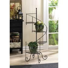 Indoor Garden Decor - 39 iron spiral showcase plant flower stand indoor outdoor home