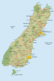 zealand on map zealand map south island