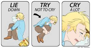 Try Not To Cry Meme - yoosung lie down try not to cry cry a lot lie down try not to
